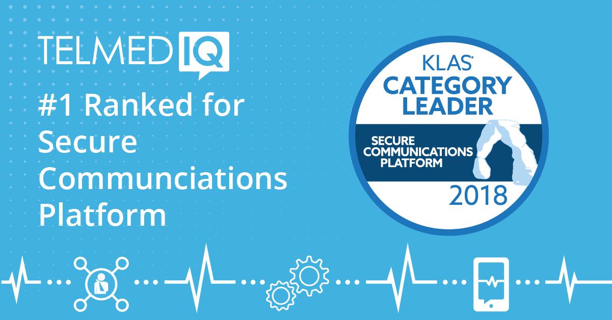 Telmediq Ranked No. 1 for Secure Healthcare Communications Platforms by KLAS Research
